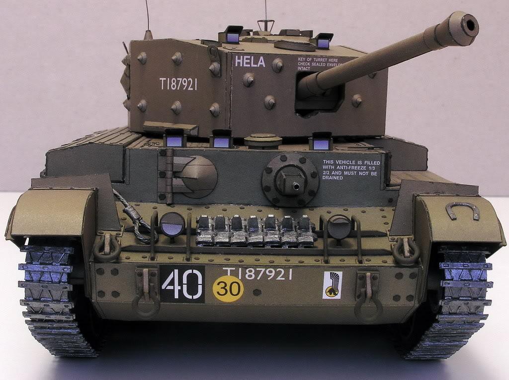 Cruiser Tank Mk VIII A 27M Cromwell  Maly Modelarz Verlag 1-2//02   1:25